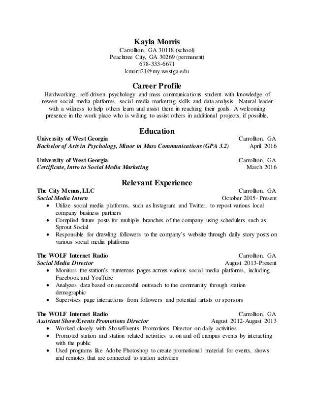 Kayla Morris Seminar Resume 1