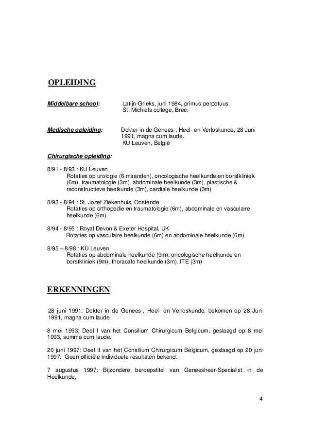 curriculum vitae nederlands doc