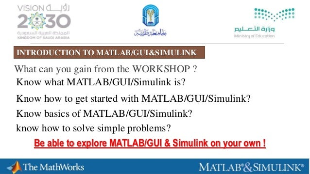 ADVANCED WORKSHOP IN MATLAB