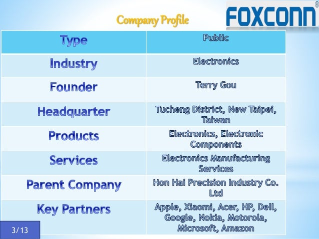 Analysis of Strategic Management at Foxconn International Holdings Essay