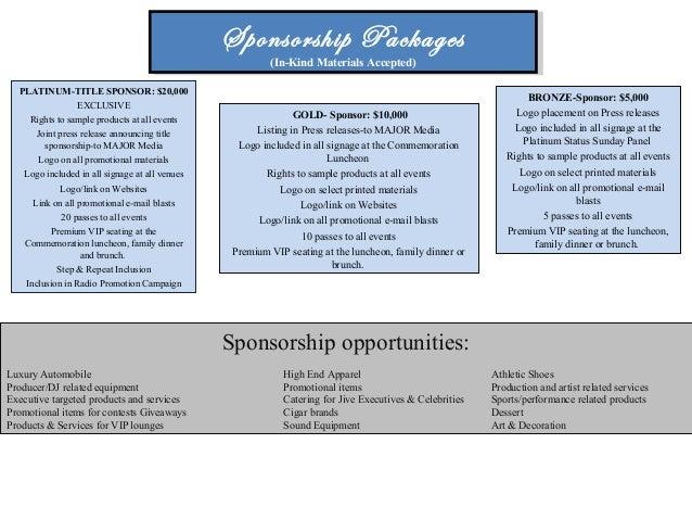 sample sponsorship package