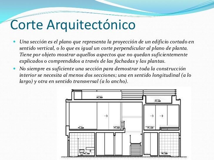 Uso de proporciones en cortes y fachadas for Que es un plano arquitectonico