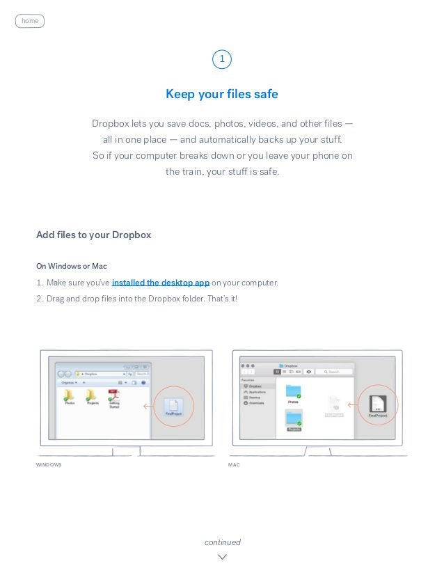 Keep your files safe Dropbox lets you save docs, photos, videos, and other files — all in one place — and automatically ba...