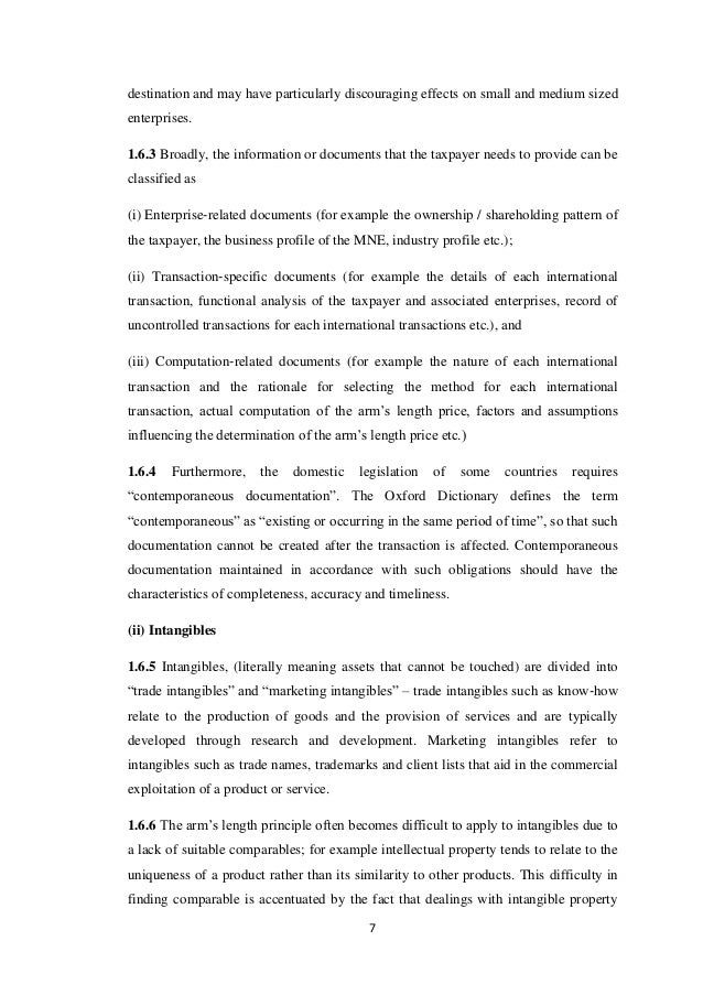 transfer pricing documentation for associated enterprises The content of the file generally follows the guidelines included in the code of conduct on transfer pricing documentation for associated enterprises in the european union the content of the file must be according to the local legislation the transfer pricing documentation file should include: a information on the group.