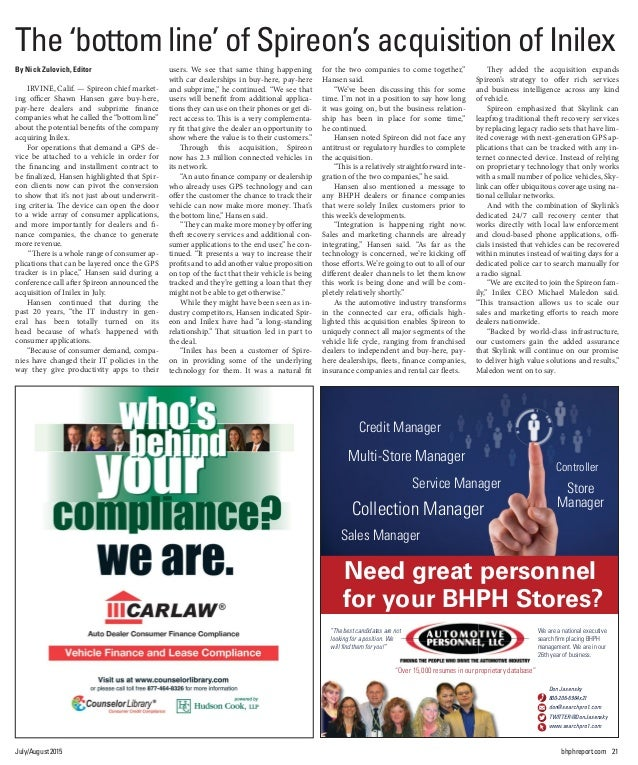 BHPH July-August 2015 Front Page - and Page 17