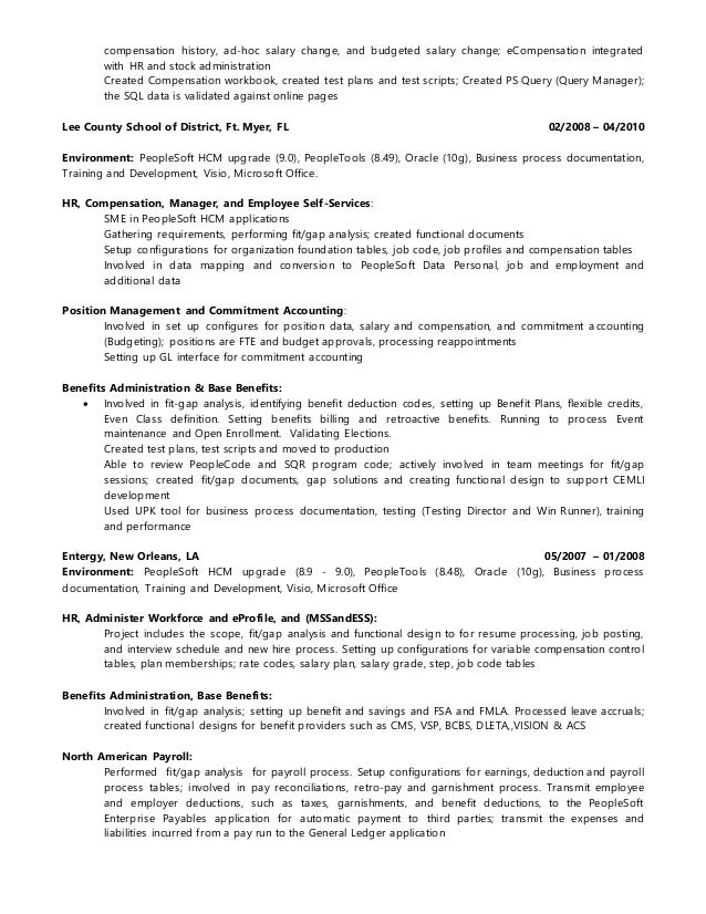 example resume education and experience for best resume template functional consultant resume sample free resume oracle - People Soft Consultant Resume