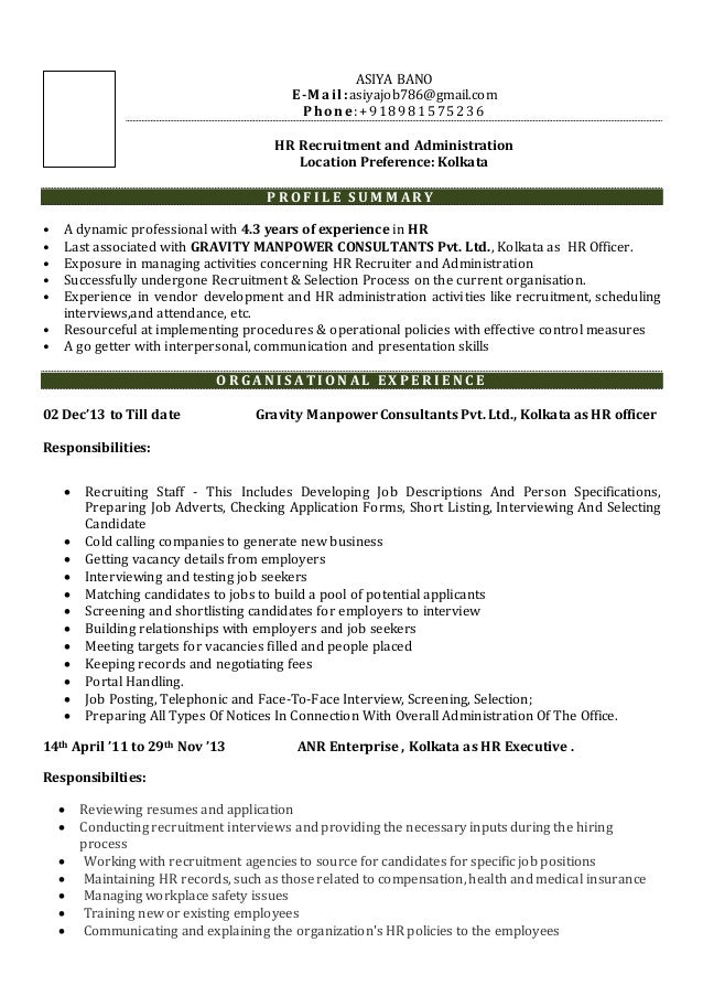 Lovely Resume Location Preference Gallery - The Best Curriculum ...