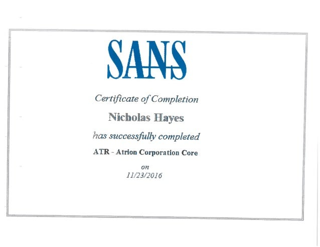 certificate sans security cyber training slideshare upcoming