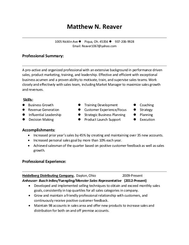 Examples Of Professional Summary For Resume  Resume Examples And