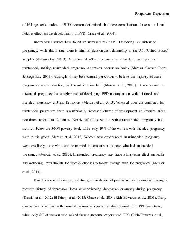 thesis statement for postpartum depression
