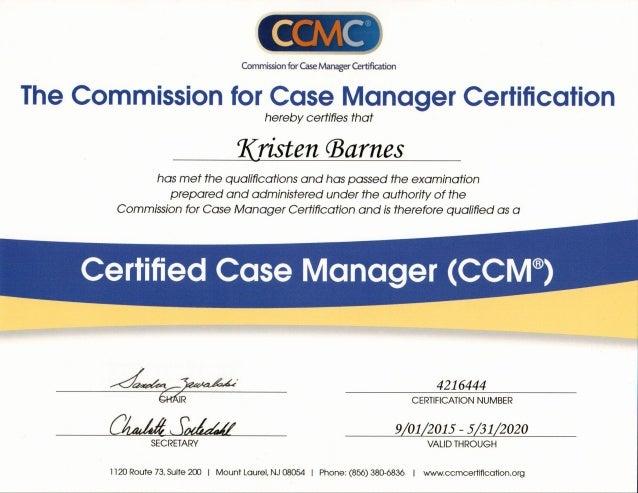 CCM Certificate