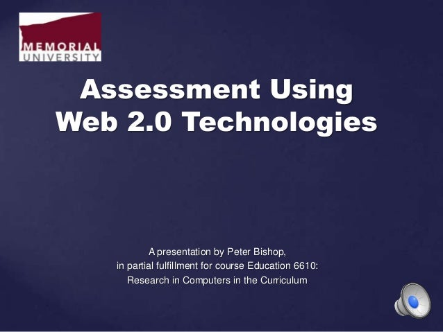A presentation by Peter Bishop, in partial fulfillment for course Education 6610: Research in Computers in the Curriculum ...