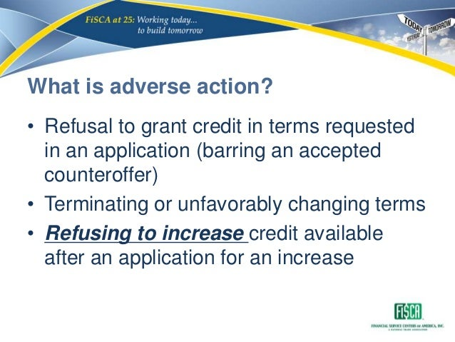 Cfpb small dollar lending exam procedures module 2 ecoa fcra tila 19 what is adverse action refusal to grant credit in reheart Choice Image