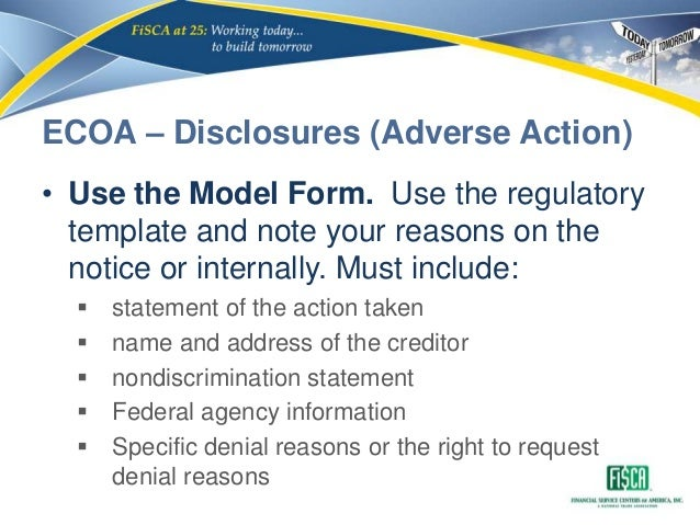 Cfpb small dollar lending exam procedures module 2 ecoa fcra tila credit available after an application for an increase 20 ecoa disclosures adverse action reheart Choice Image