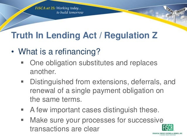 truth in lending act essay The truth in lending act (tila) is a united states federal law that is drawn to protect and promote the interest and goods of both of the parties involved in a credit contract this law mainly requires in its attempt for protection a clear disclosure of all the informations pertaining to the lending agreement and all costs.