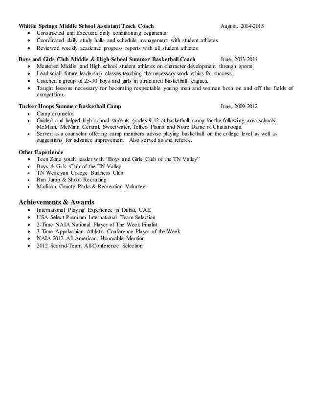 2016 sports resume