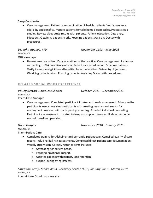 shawn briggs resume
