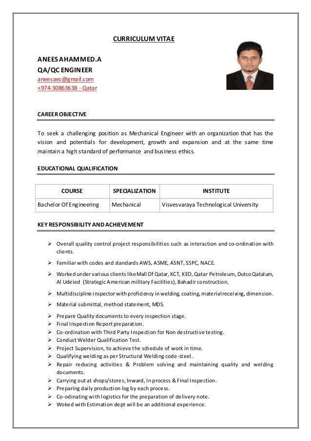 QA QC Engineer Anees Ahammed