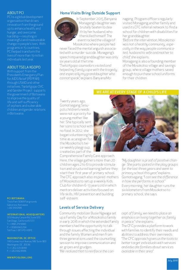 PCI BOTSWANA Tholo Park 50369 Fairgrounds Gaborone, Botswana +267.319.0198 INTERNATIONAL HEADQUARTERS 5151 Murphy Canyon R...