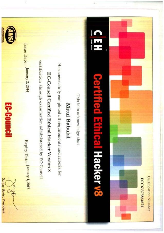Ceh Certificate