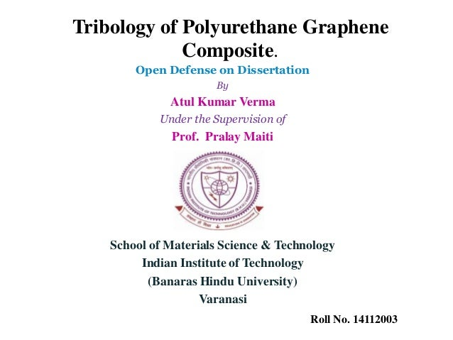 Phd thesis on tribology