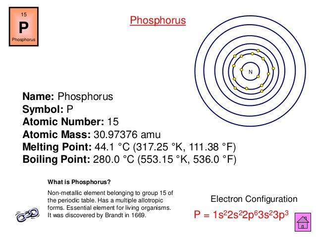 Chemistry is fun ipt 52 name phosphorus symbol p atomic urtaz Gallery