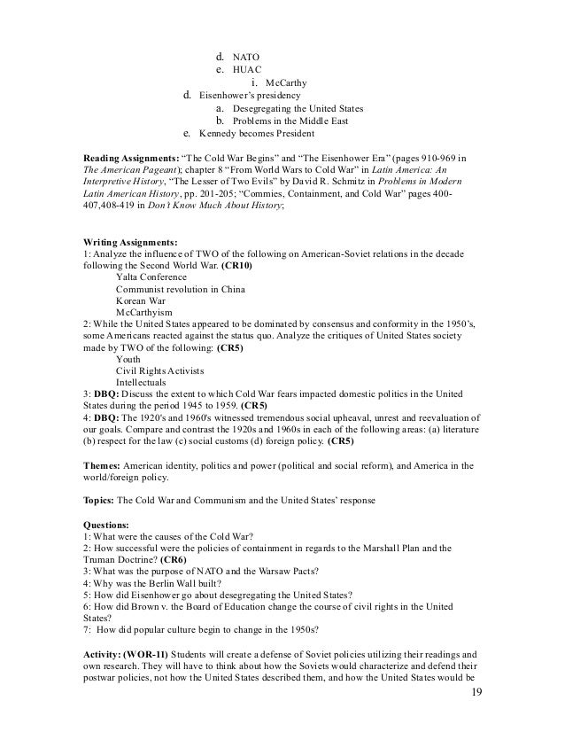 apush audit syllabus 2a rh slideshare net Guided Reading Books Guided Reading Levels