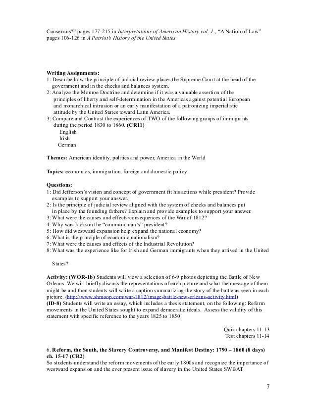 2003 apush dbq form a answers