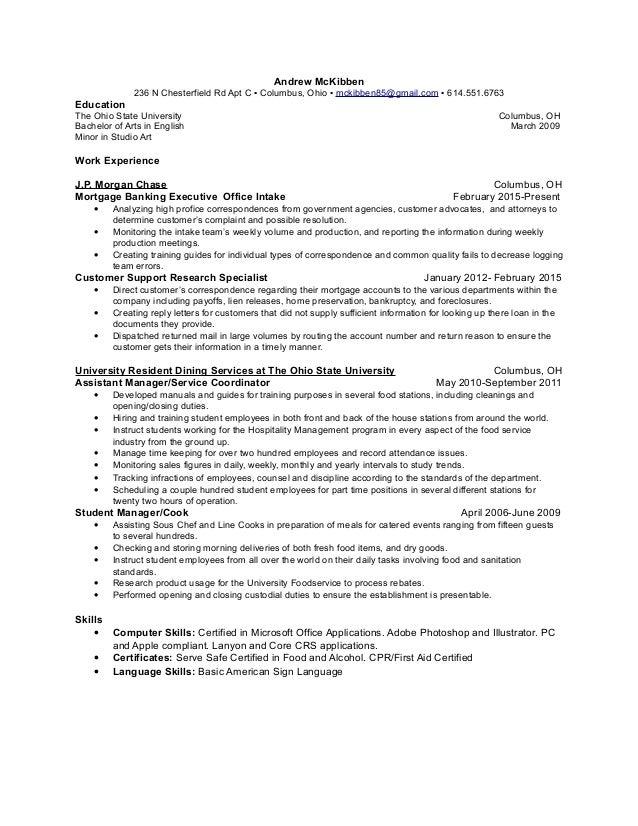 Andrew Mckibben Resume