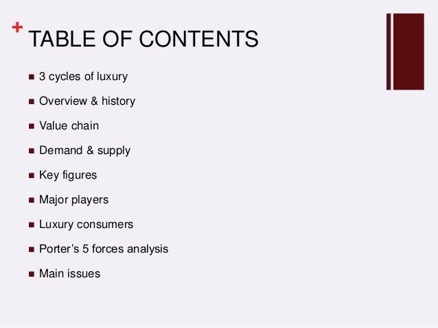 FINALPPTINDUSTRYANALYSIS - Luxury how to create table of contents in powerpoint design