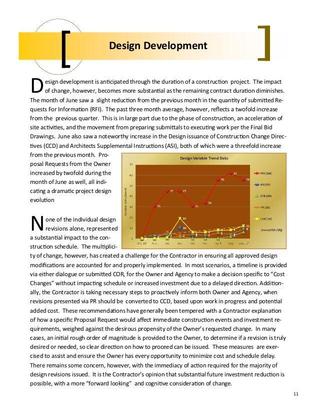 Construction Monthly Progress Report - June 2011