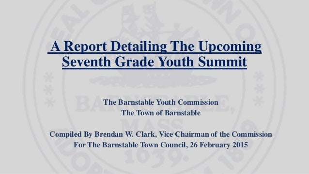 A Report Detailing The Upcoming Seventh Grade Youth Summit