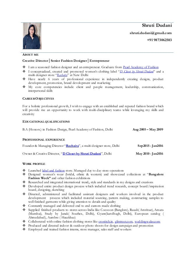 Shruti Dudani Resume