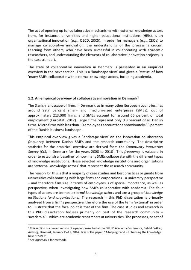 phd thesis smes This dissertation reports a doctoral research on innovation and new product development in scotland involving case studies of eight scottish food smes and a triangulation survey of 85 innovative scottish companies background and motivation the history of study and analysis of innovation goes back to three quarters of a.