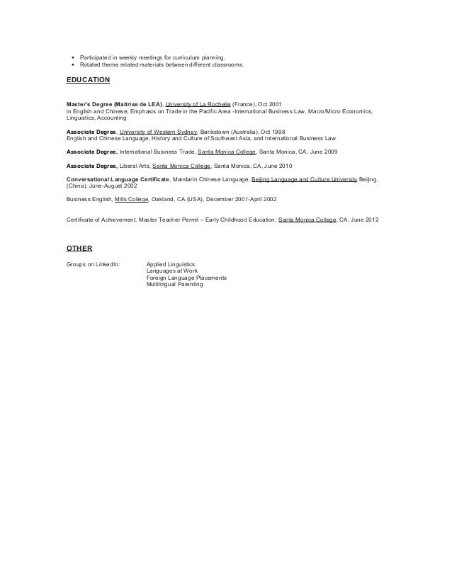 language translator resume