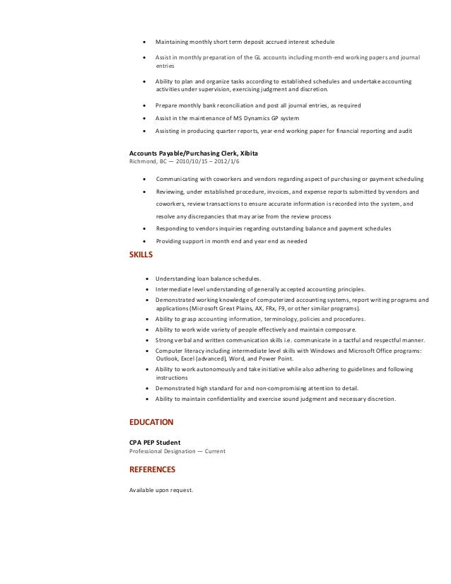 Resume - Accoutant Lush