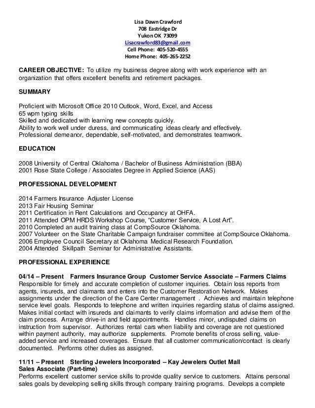 lisa crawford resume 2015