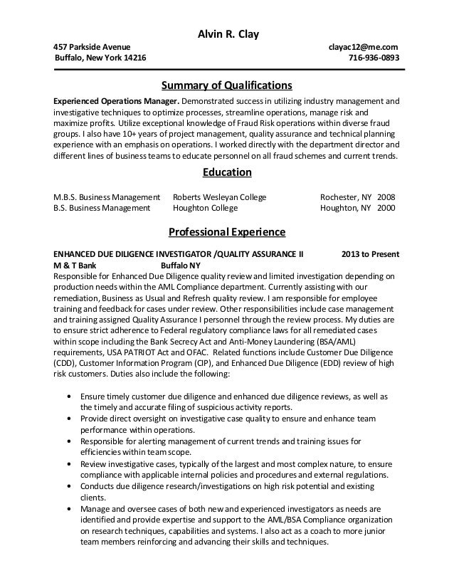 fraud investigator resume view sample resumes for investigator