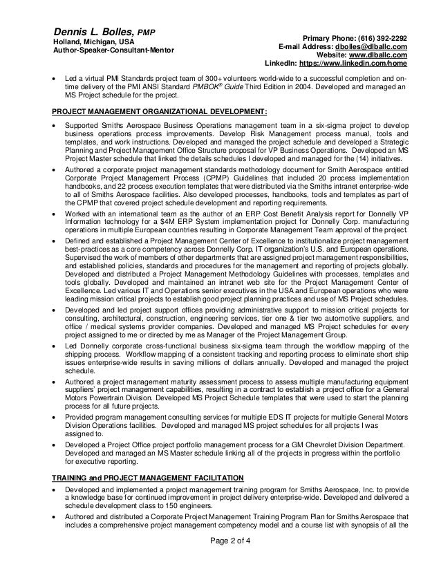 PMI Functional Resume