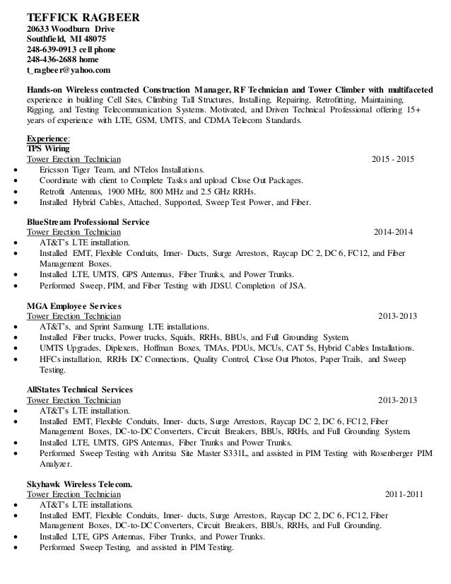 telecommunication specialist resume - Boat.jeremyeaton.co