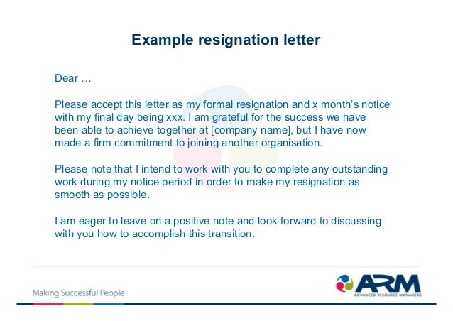 One Day Resignation Letter Resignation Letter To Boss Relocating