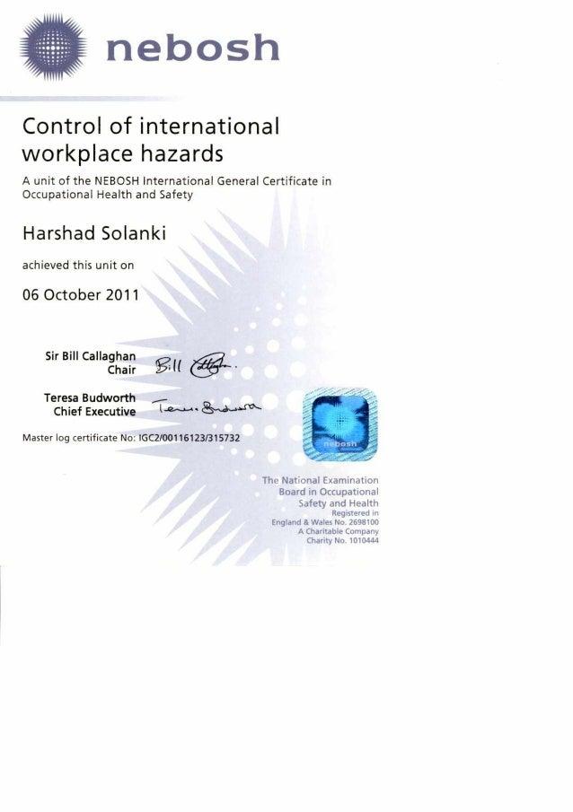 2 A Unit Of The NEBOSH International General Certificate In Occupational