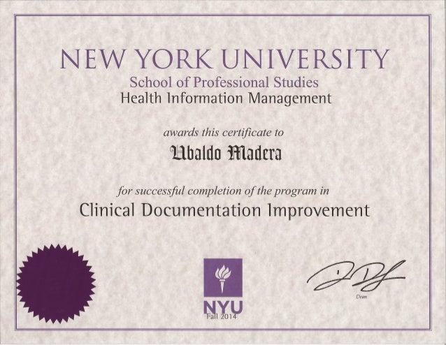 nyu certificate slideshare ubaldo cdi upcoming