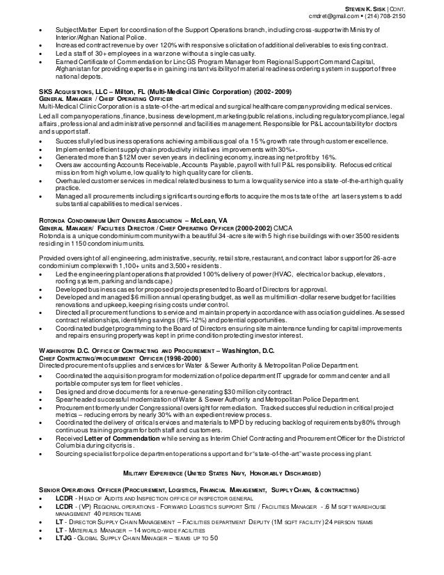 2 - Procurement Resume