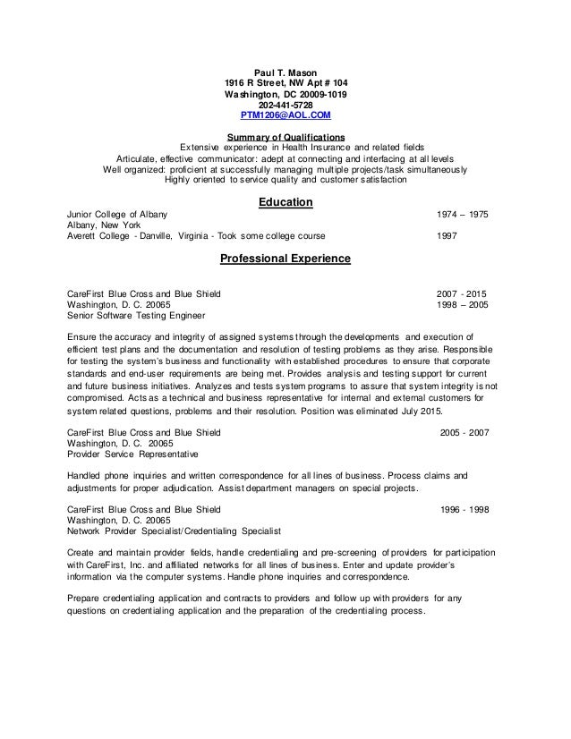 Mason Job Description Resume