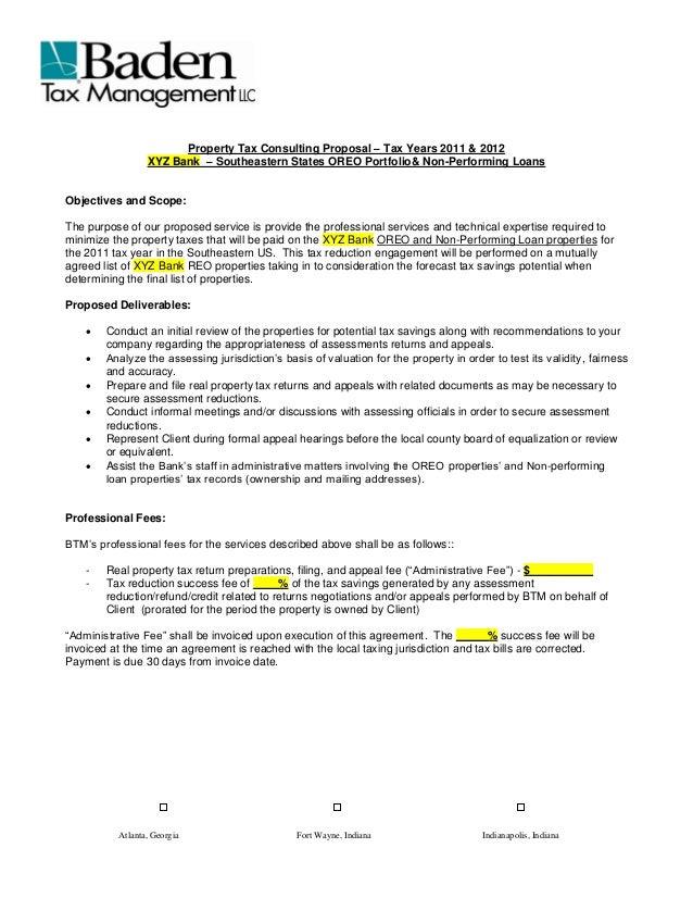 Atlanta, Georgia Fort Wayne, Indiana Indianapolis, Indiana Property Tax  Consulting Proposal U2013 Tax ...