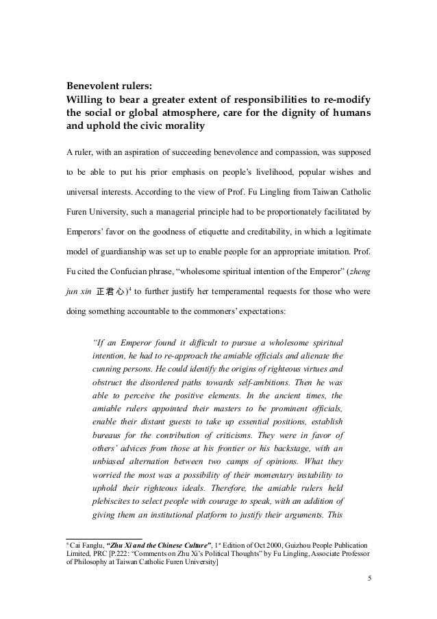 confucian essay in thought Thus, the main aim of this paper is to explain confucius view at human nature,  using different evidences for the acknowledgement of the thought that confucius' .