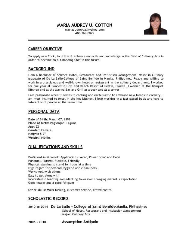 audrey resume