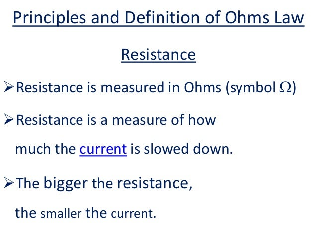 Fairylights...Principles and Definition of Ohms Law