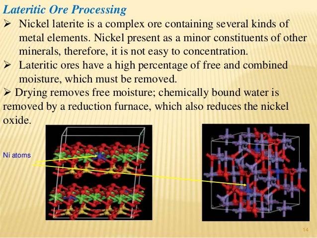 Nickel lateritic ores